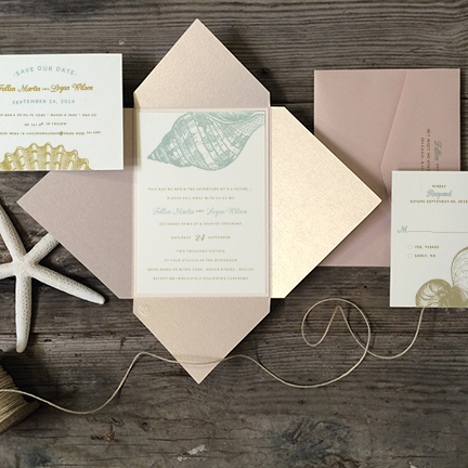 etched-seashells-wedding-invitation